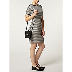 Dorothy Perkins - Petite black stripe tube dress