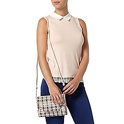 Dorothy Perkins - Petite blush lace 2 in 1 top