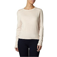 Dorothy Perkins - Petite blush lace back jumper
