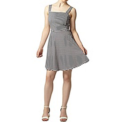Dorothy Perkins - Petite stripe pinafore dress