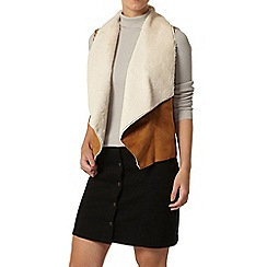 Dorothy Perkins - Petite tan waterfall gilet