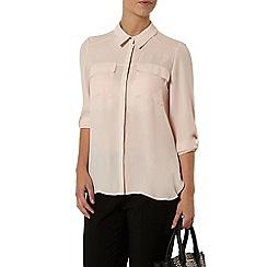 Dorothy Perkins - Petite blush rollsleeve shirt