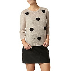 Dorothy Perkins - Petite blush heart jumper
