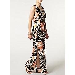 Dorothy Perkins - Petite tropical pom pom maxi dress