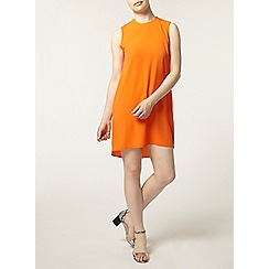 Dorothy Perkins - Petite orange dip back dress