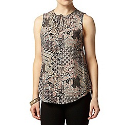 Dorothy Perkins - Petite stone/peach boho shirt