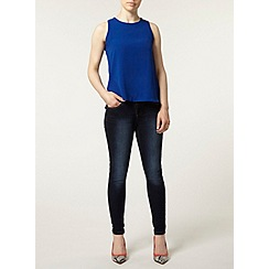 Dorothy Perkins - Petite blue split back dip top