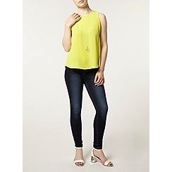 Dorothy Perkins - Petite lime split back top