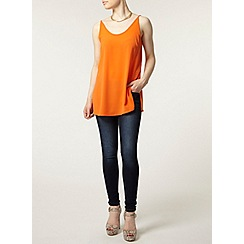 Dorothy Perkins - Petite orange split camisole