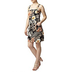 Dorothy Perkins - Petite stone tropical pinny dress