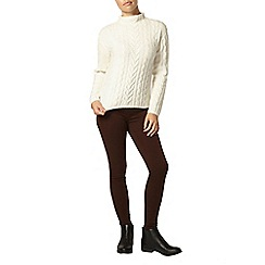 Dorothy Perkins - Petite chocolate 'eden' jeggings