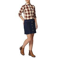 Dorothy Perkins - Petite rum check shirt