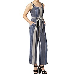 Dorothy Perkins - Petite blue stripe jumpsuit