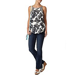 Dorothy Perkins - Petite blue paisley mix camisole