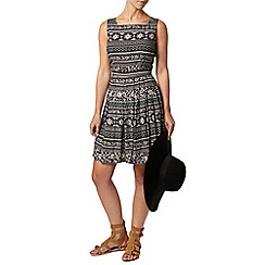 Dorothy Perkins - Petite black boho dress