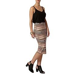 Dorothy Perkins - Petite printed tube skirt