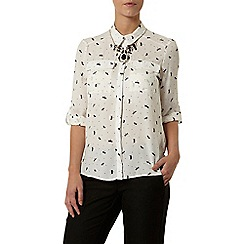 Dorothy Perkins - Petite dragonfly print shirt