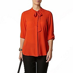 Dorothy Perkins - Petite orange pussybow blouse