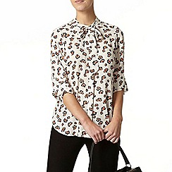 Dorothy Perkins - Petite printed pussybow blouse