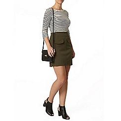 Dorothy Perkins - Petite stripe 3/4 sleeve t-shirt
