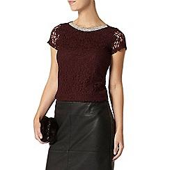 Dorothy Perkins - Petite plum embellished t-shirt