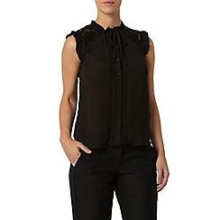Dorothy Perkins - Petite black victoriana shirt