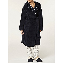 Dorothy Perkins - Petite navy star textured robe