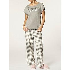Dorothy Perkins - Petite check pyjama pants
