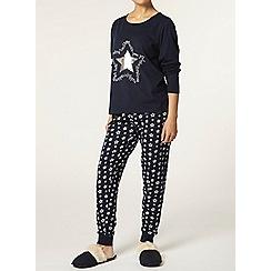 Dorothy Perkins - Petite navy star pyjama pants