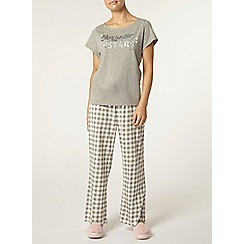 Dorothy Perkins - Petite grey star pyjama top