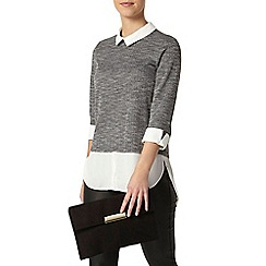 Dorothy Perkins - Petite textured 2 in 1 top