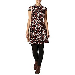 Dorothy Perkins - Petite collar fit and flare dress