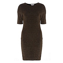 Dorothy Perkins - Petite black and gold dress