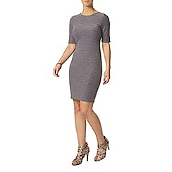 Dorothy Perkins - Petite grey and silver dress