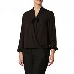 Dorothy Perkins - Petite black wrap blouse