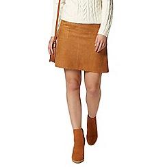 Dorothy Perkins - Petite tan suedette skirt