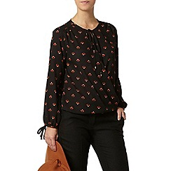 Dorothy Perkins - Petite black wrap top
