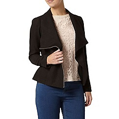 Dorothy Perkins - Petite black waterfall jacket