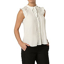 Dorothy Perkins - Petite ivory victoriana top