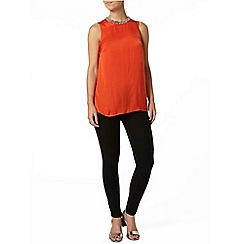 Dorothy Perkins - Petite orange embellished top