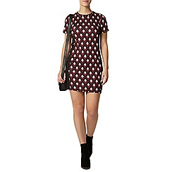Dorothy Perkins - Petite wine geo bodycon dress