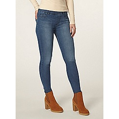 Dorothy Perkins - Petite mid wash 'eden' jeggings