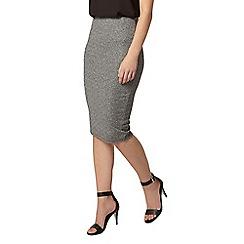 Dorothy Perkins - Petite silver metallic skirt