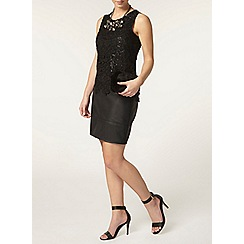 Dorothy Perkins - Petite sequin skirt in black