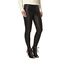 Dorothy Perkins - Petite coated zip leggings