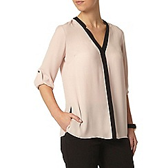 Dorothy Perkins - Petite blush and black shirt