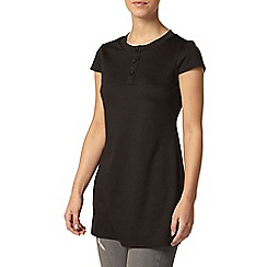Dorothy Perkins - Petite black button tunic