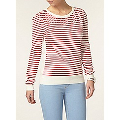 Dorothy Perkins - Petite stripe pointelle jumper