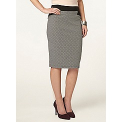 Dorothy Perkins - Petite black and white skirt