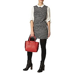 Dorothy Perkins - Petite check 2 in 1 pinafore dress